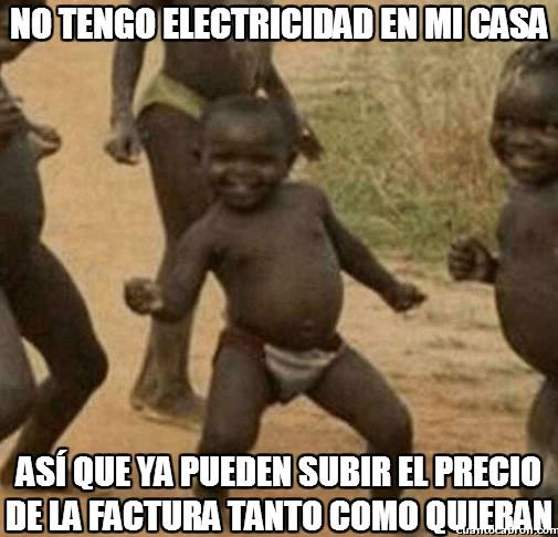 Nino_optimista_tercermundo - ¿Facturas de electricidad? ¿Qué es eso? ¿Se come?