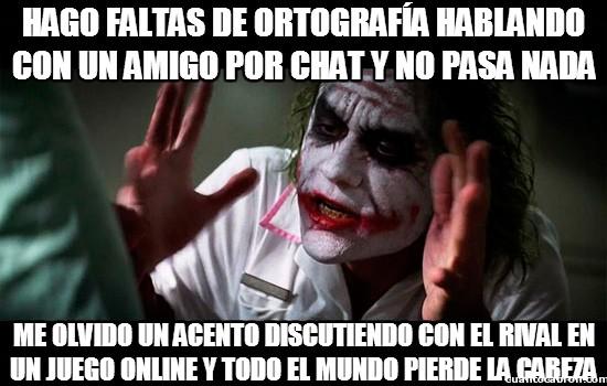 Joker - Problemas de ortografía