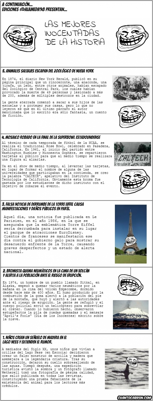 Trollface - Top 5 de las Mejores Inocentadas de la Historia