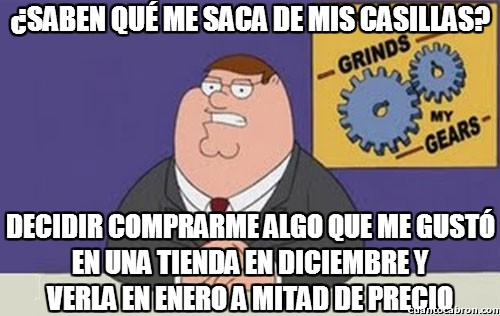 Peter_griffin - La injusticia de las rebajas