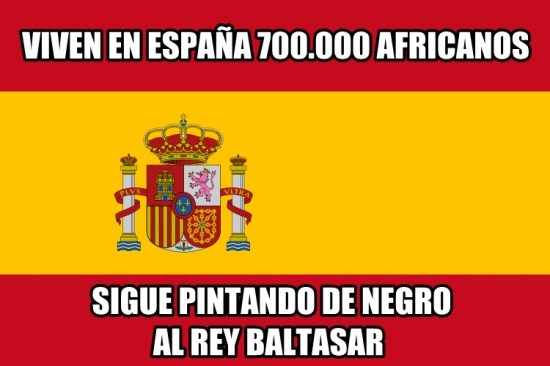 áfrica,africanos,blanco pintado,cabalgata de reyes,españa,rey baltasar