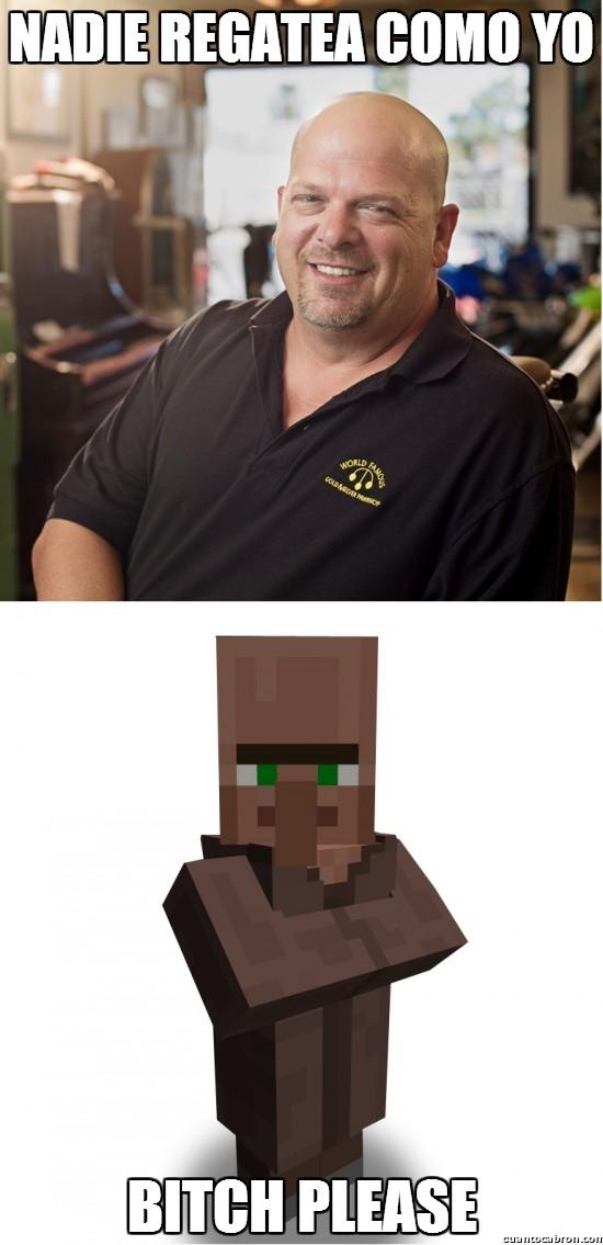 Aldeanos,El Precio de la historia,Minecraft