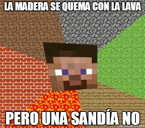 Minecraft - Sandías ignífugas