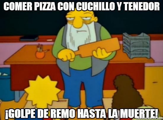 Golpe_de_remo - La pizza es para ensuciarse las manos