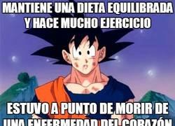 Enlace a Si a Goku no le sirvió de nada llevar una buena dieta