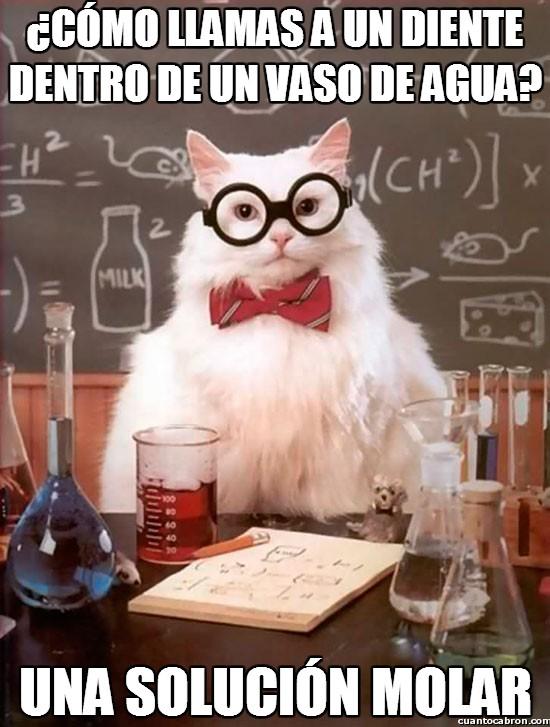 Gato_quimico - Chistes dentales químicos