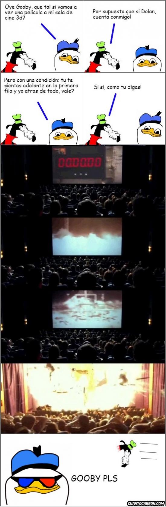 cine 3d,destino final 4,Dolan,Dolan Pls,explosión,Gooby
