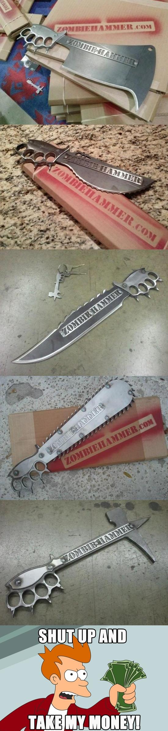 Fry - Cuchillos diseñados en caso de Apocalipsis Zombie