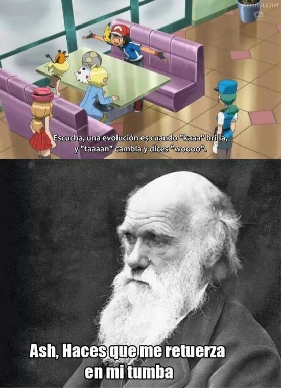 Ash Ketchum,Darwin,Dibujos animados,Genius,Pokémon,Teoría de la evolución