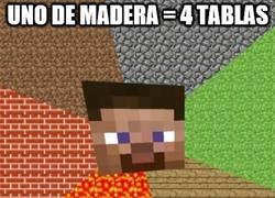 Enlace a La madera de Minecraft no tiene sentido