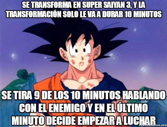 Son_goku - Nadie cuestiona la grandeza de Goku, pero hay que decir que no planifica muy bien su tiempo
