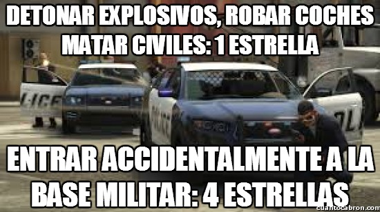 Meme_otros - Lógica de la policía del GTA