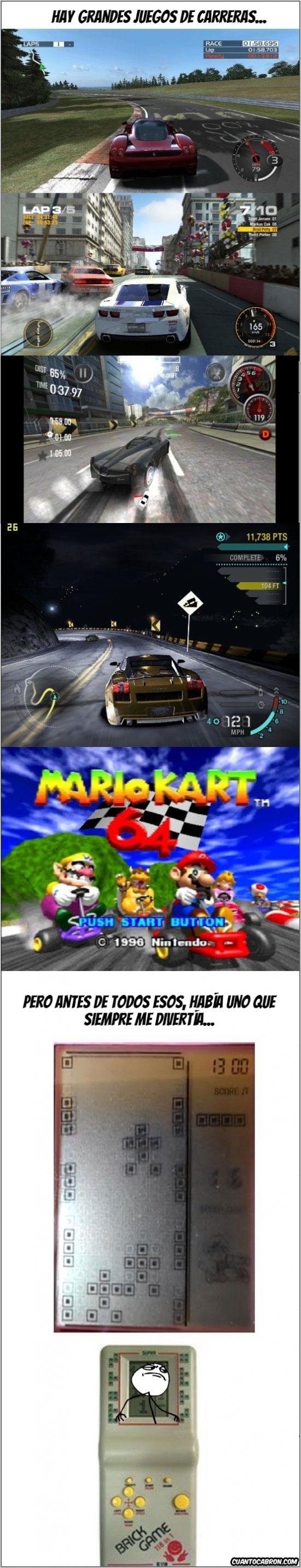 brick game,carreras,carreras brick game,infancia,juegos carreras,temavideojuegos