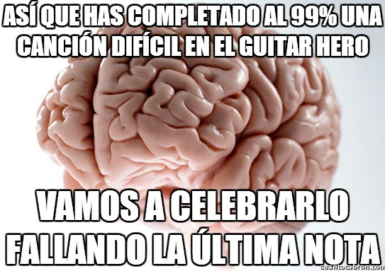 Cerebro_troll - Una celebración cuando juegas al Guitar Hero