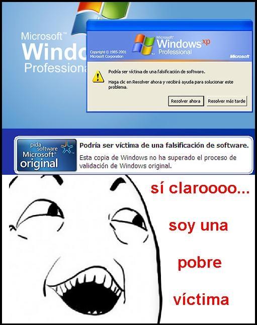 activación,mensaje,original,sí claro,víctima,windows
