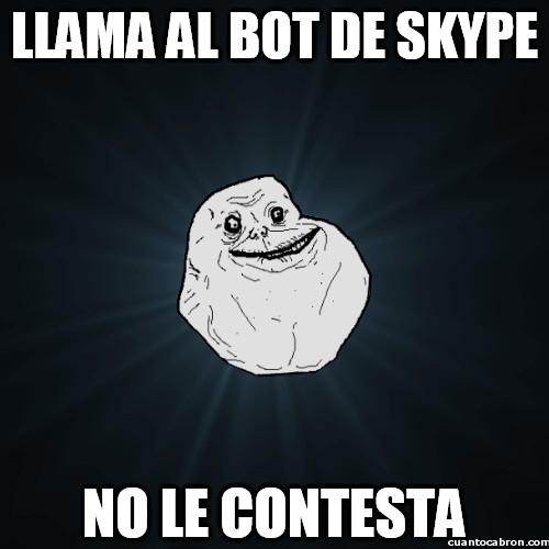 Meme_forever_alone - Skyper Alone
