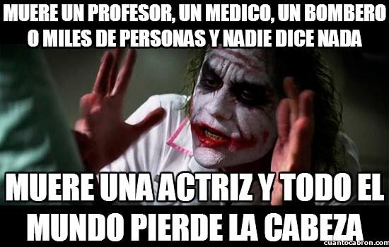 Joker - Muertes relevantes según la profesión