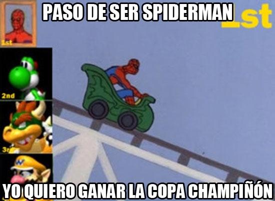 Spiderman60s - Y el invitado especial del nuevo Mario Kart será...