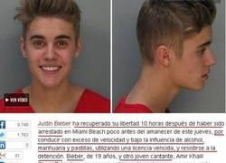 Enlace a Justin Bieber encarcelado