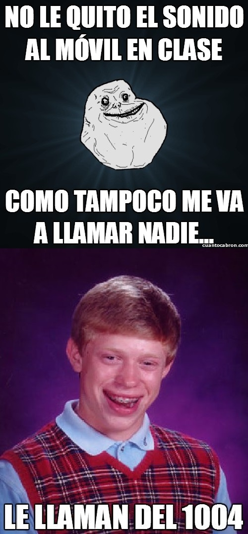 Meme_mix - No todo es malo siendo Forever Alone (excepto si eres Bad Luck Brian)