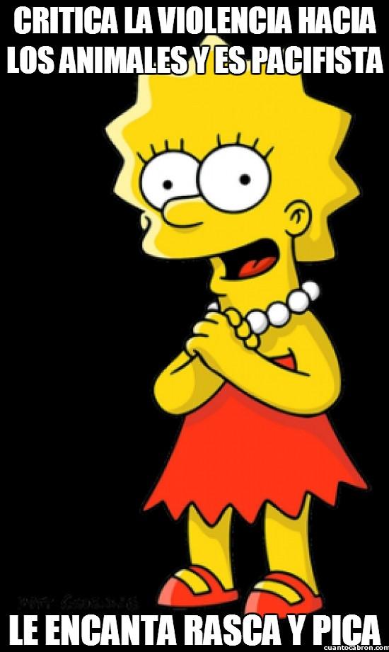 Meme_otros - La incoherencia de Lisa Simpson