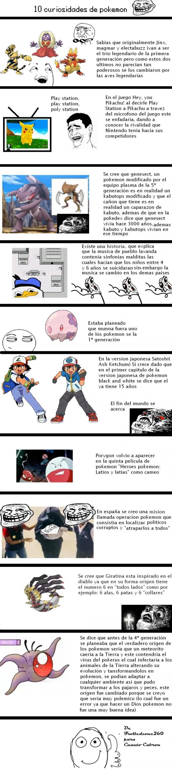 Otros - Curiosidades que no sabías de Pokémon