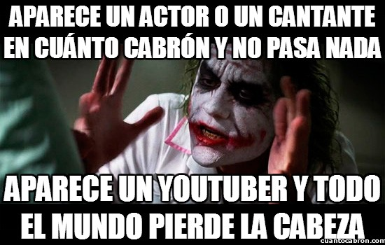 actor,cantante,joker,perder la cabeza,youtuber