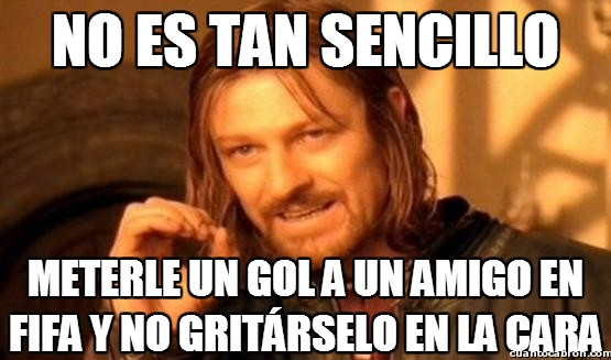 Boromir - Gooooool in your face!