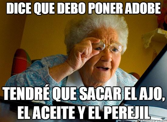 Abuela_sorprendida_internet - Típica receta tecnológica de la abuela