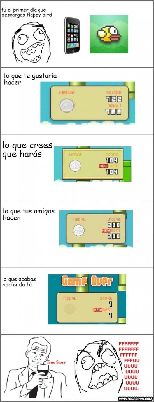 Ffffuuuuuuuuuu - ¡Maldito Flappy Bird!