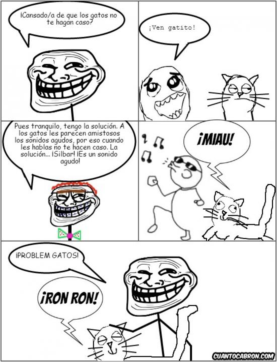 Trollface - Cómo gustarle a un gato
