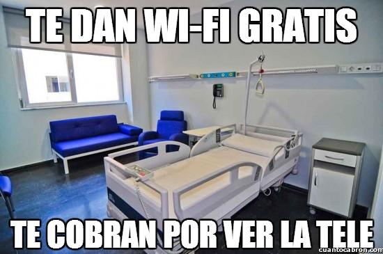 hospital,hospitales,tele,televisión,tv,wi-fi,wifi
