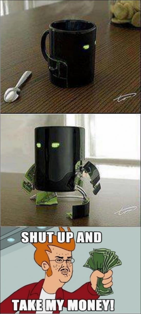 manos,pies,robot,Shut up and take my money,Taza,Transformer