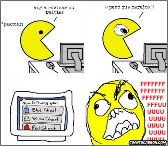 Ffffuuuuuuuuuu - La dura vida en las redes sociales de Pac-man