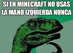 Enlace a La mano izquierda en Minecraft