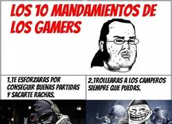 Enlace a Los 10 mandamientos de los gamers