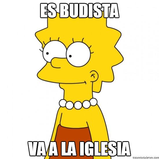 Meme_otros - Lisa Simpson y su poca lógica aplicada a la religión