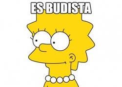Enlace a Lisa Simpson y su poca lógica aplicada a la religión