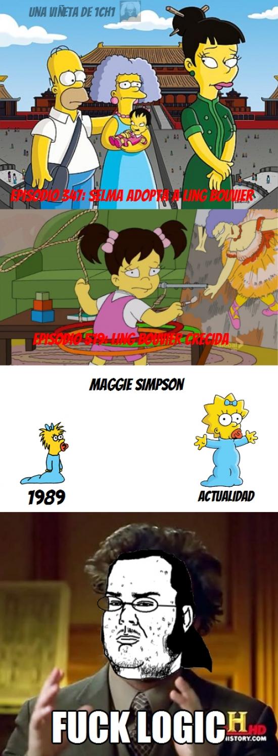 Friki - Un poco de falta de lógica en Los Simpson