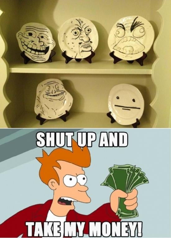 Fry - Mamá, si me compras esta vajilla, me voy de casa