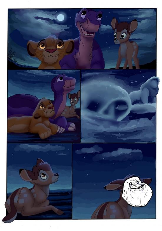 Forever_alone - Pobre, pobre Bambi...