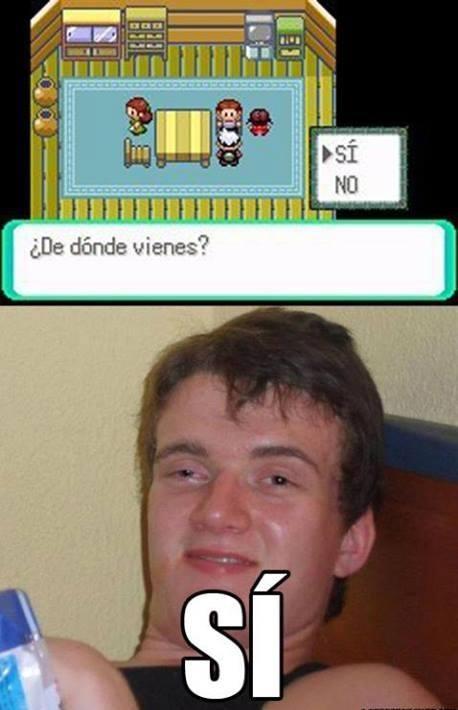 Colega_fumado - El colega ha estado programando Pokémon