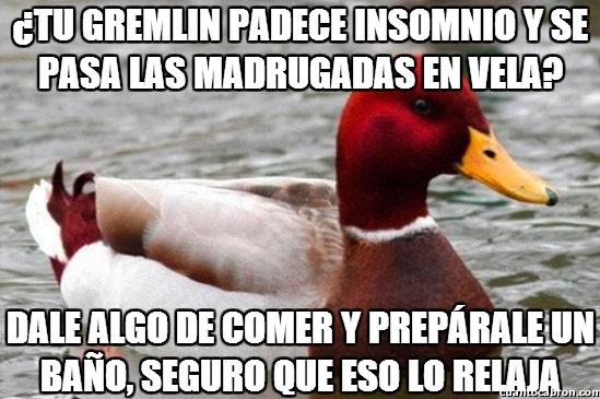 Pato_mal_consejero - Es lo que mejor les sienta a los Gremlins