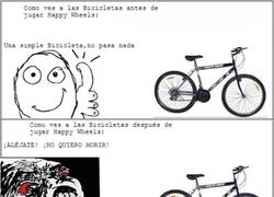 Enlace a Happy Wheels y las bicicletas
