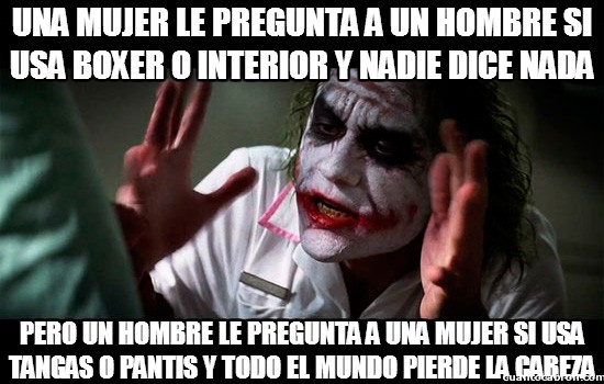 Joker - Hay cosas que no se pueden preguntar entre hombres y mujeres