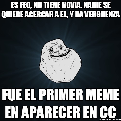 Meme_forever_alone - La ironía de la vida de Forever Alone