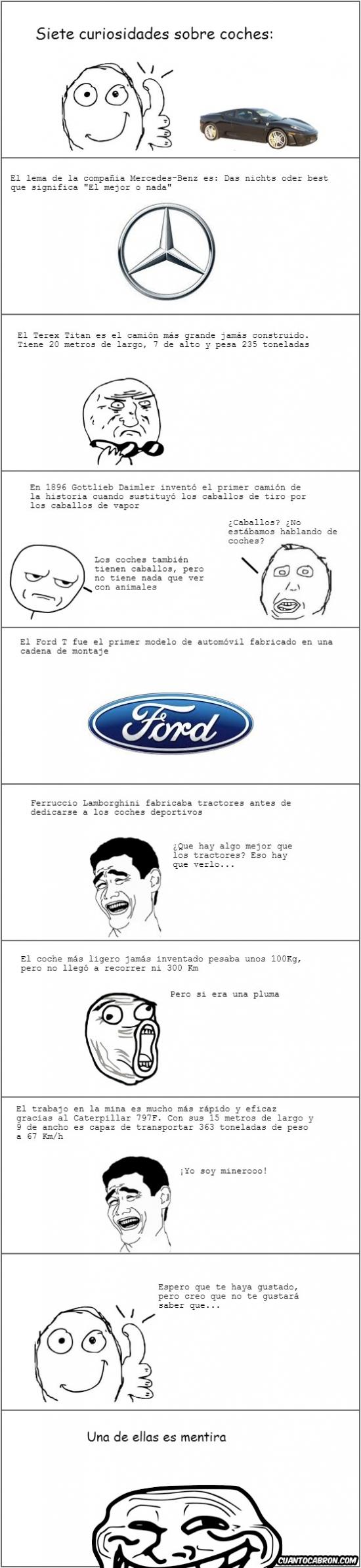 Trollface - 7 curiosidades sobre coches