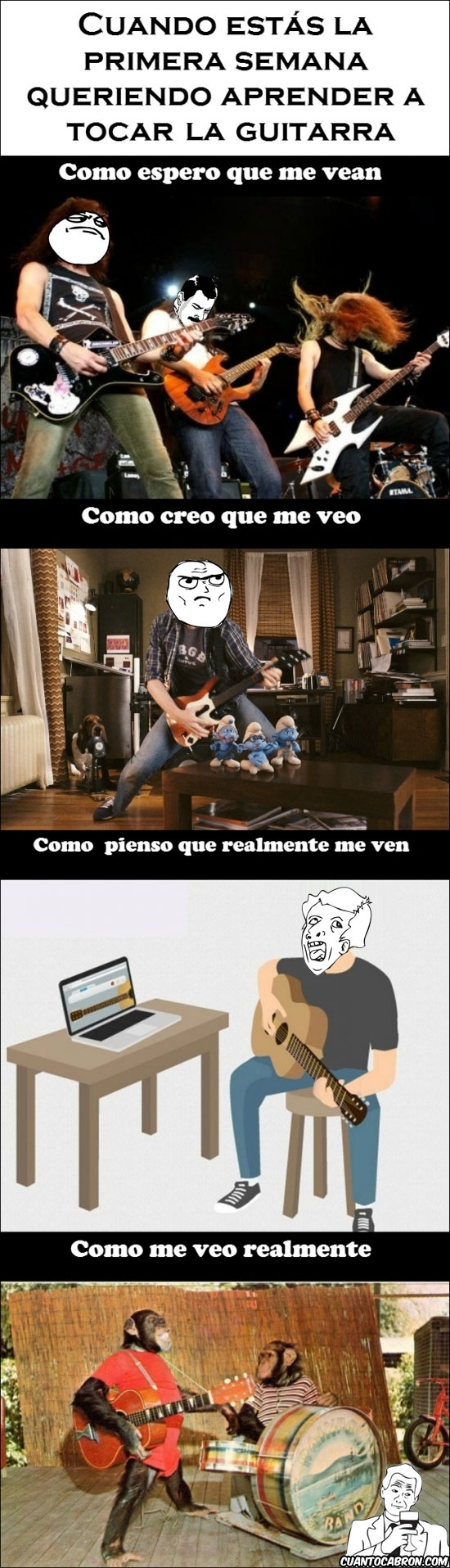 Mix - La realidad cuando aprendes a tocar guitarra