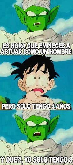 Meme_otros - Nunca me había planteado la edad real de Piccolo
