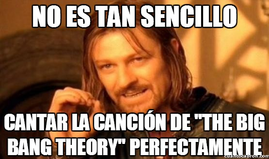 Boromir - Our whole universe was in a hot dense state...